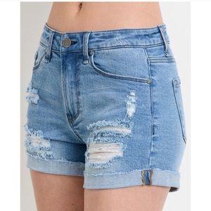 🌺3 X HP🌺💗 Distressed Raw Hem Denim Shorts 💗